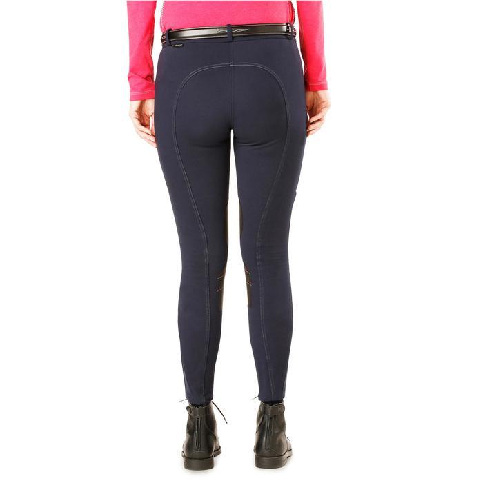 Pantalon chaud équitation femme VICTORIA bleu marine - 1164201