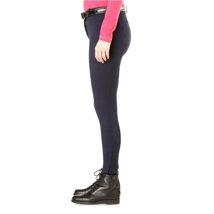 Pantalon chaud équitation femme VICTORIA bleu marine - 1164202