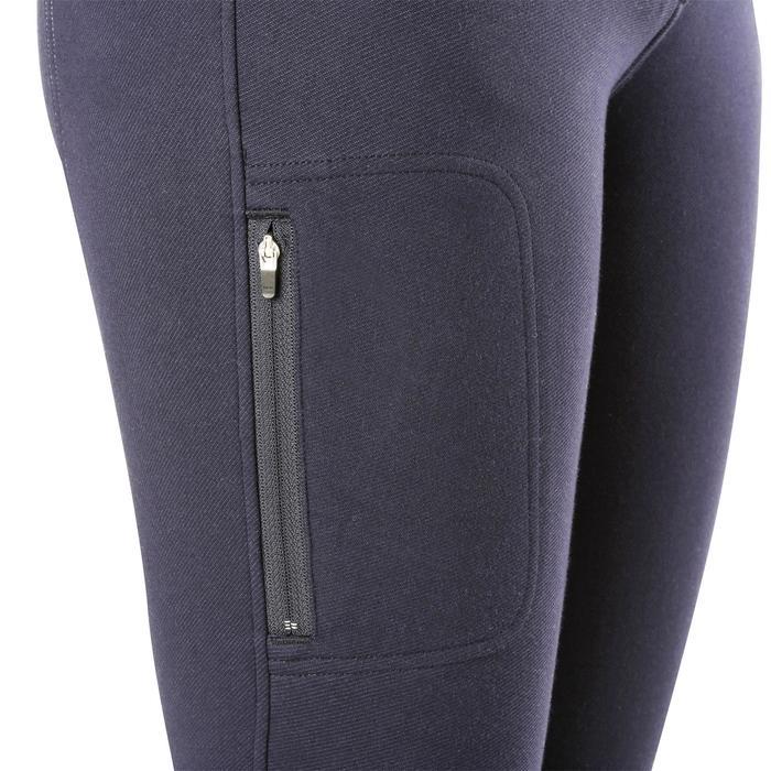 Pantalon chaud équitation femme VICTORIA bleu marine - 1164203