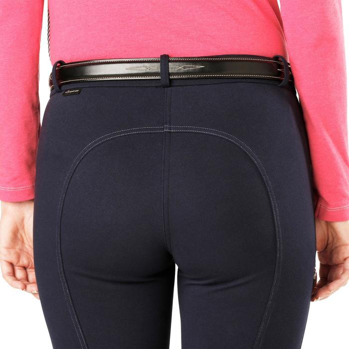 Pantalon chaud équitation femme VICTORIA bleu marine - 1164206