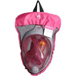 Máscara de snorkel en superficie Easybreath rosa
