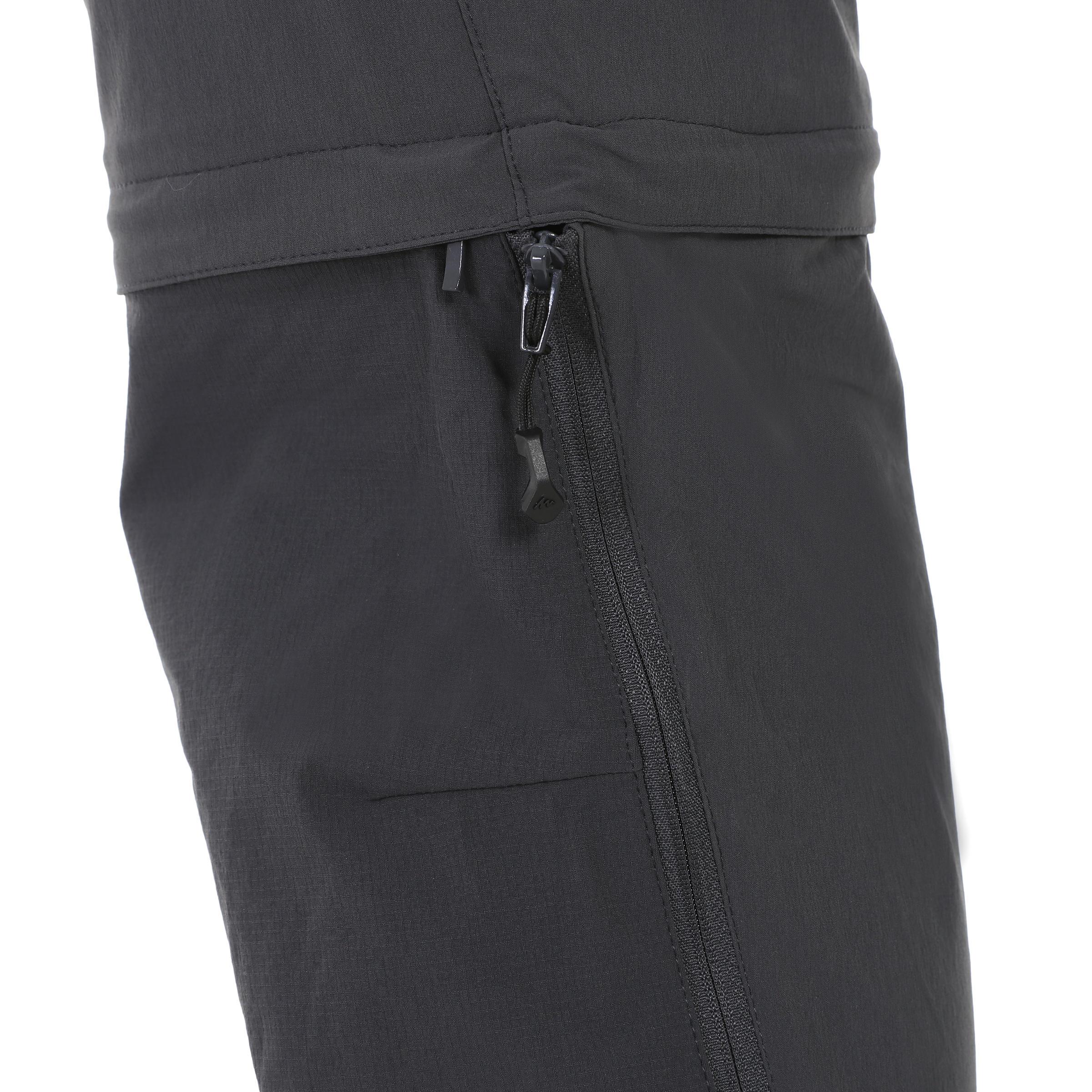 Randonnée 500 Pantalon Forclaz Homme Modulable Foncé Gris 45RALj