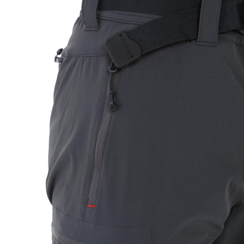 Forclaz 500 Men's Zip-Off Hiking Trousers - Dark Grey