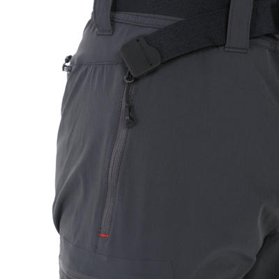 Pantalon Modulable Randonnée Forclaz 500 Homme Gris Foncé