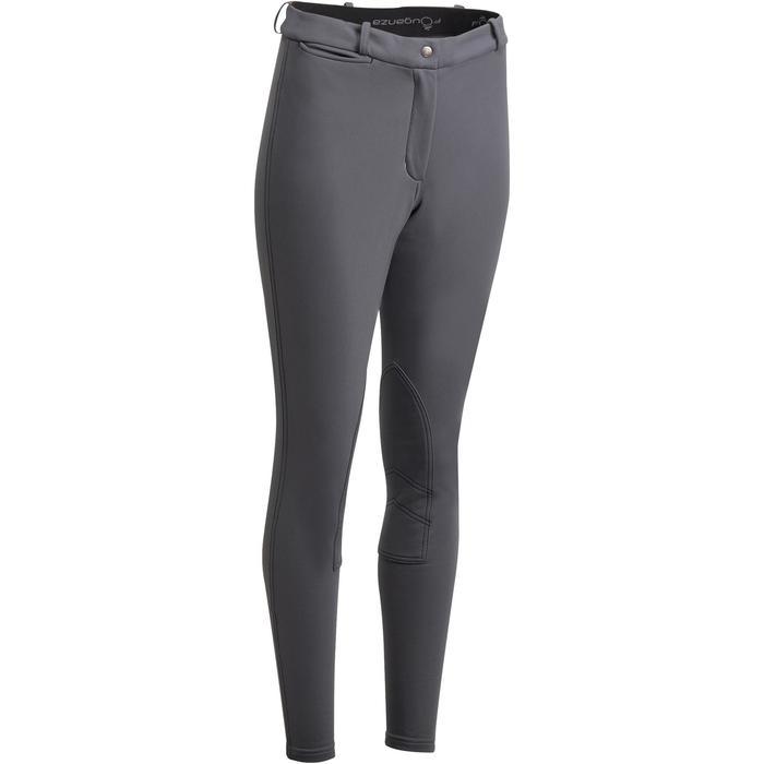Pantalon chaud équitation femme ACCESSY gris