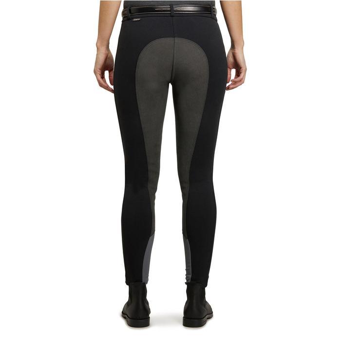 Pantalon fond de peau équitation femme BR180 fullseat noir