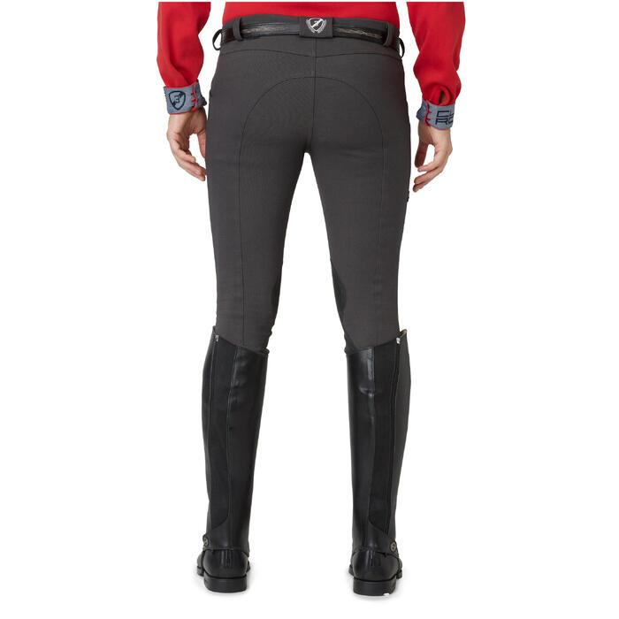 Pantalon chaud équitation homme VICTOR gris foncé - 1164990
