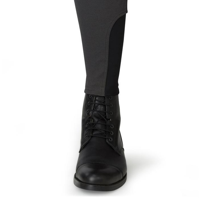 Pantalon chaud équitation homme BR 140 gris foncé