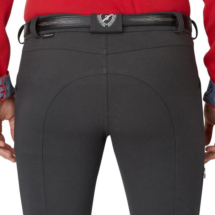 Pantalon chaud équitation homme VICTOR gris foncé - 1164997