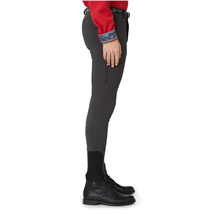 Pantalon chaud équitation homme VICTOR gris foncé - 1164999