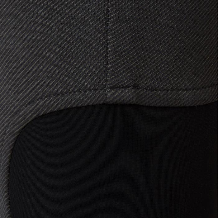 Pantalon chaud équitation homme 140 WARM gris foncé