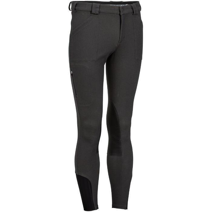 Pantalon chaud équitation homme VICTOR gris foncé - 1165005