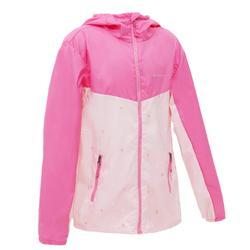 女童防風健行運動外套 Helium 500 - 粉紅