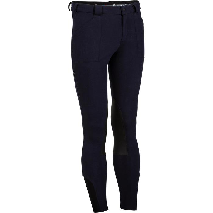 Pantalon chaud équitation homme VICTOR gris foncé - 1165042