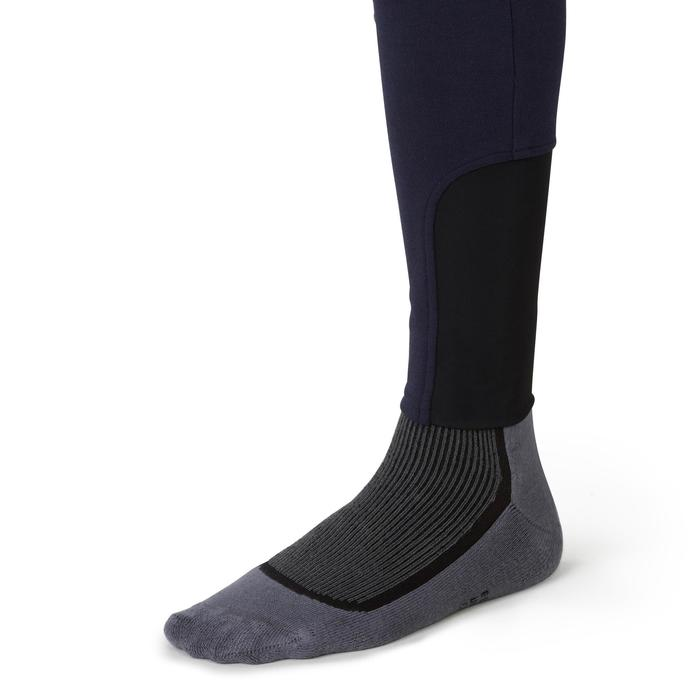 Pantalon chaud équitation homme VICTOR gris foncé - 1165044