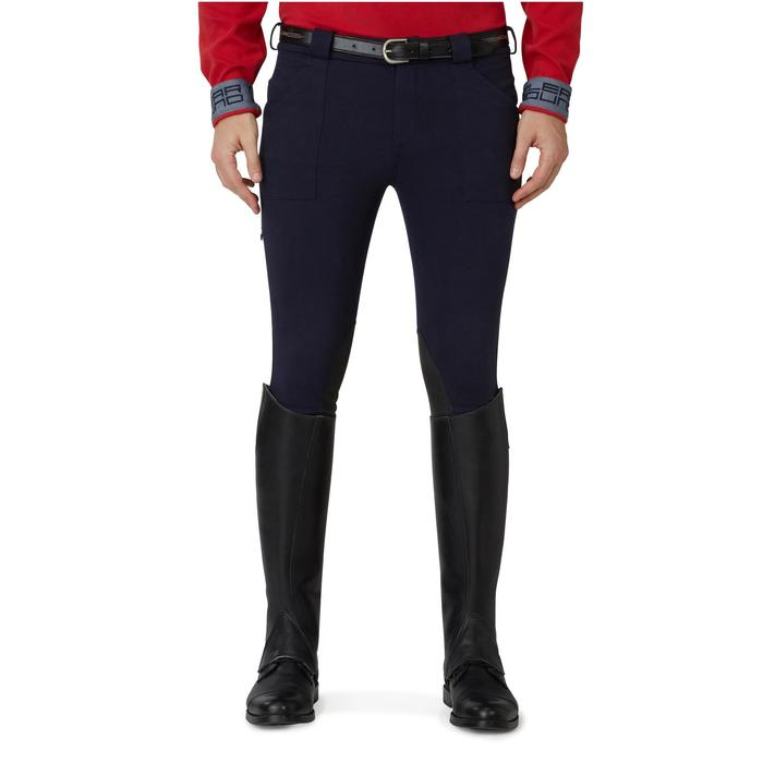 Pantalon chaud équitation homme VICTOR gris foncé - 1165051