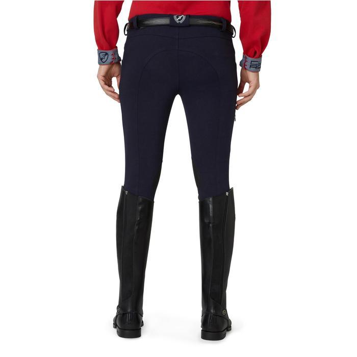 Pantalon chaud équitation homme VICTOR gris foncé - 1165058