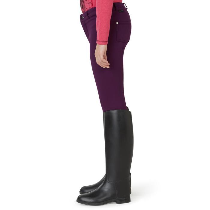 Pantalon chaud équitation enfant ACCESSY prune