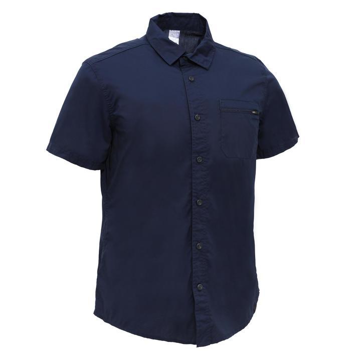 Arpenaz 100 Men's Hiking Short Sleeved Shirt - Blue