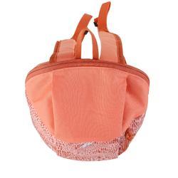兒童款健行背包Arpenaz 7 L-珊瑚紅印花