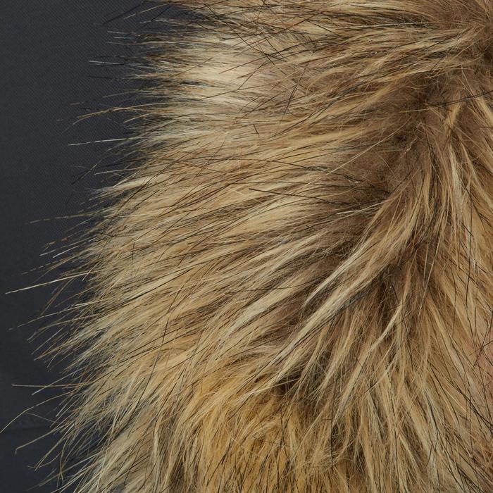 Parka chaude et imperméable équitation enfant 500 WARM gris/camel