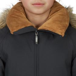 Winter-Reitparka 500 WARM und wasserdicht Kinder grau/camel
