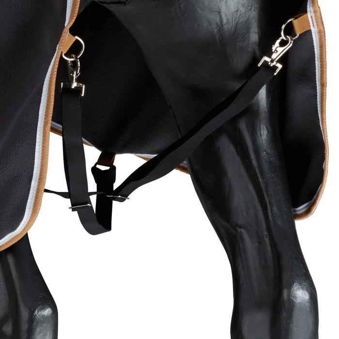 Chemise d'écurie équitation poney et cheval POLAR 500 gris foncé - 1165498