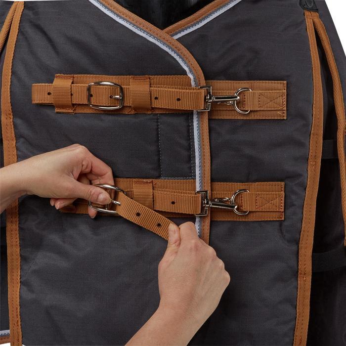 Couverture écurie équitation cheval et poney INDOOR 200 gris foncé - 1165500