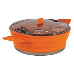 Kookpan voor trekking / camping opvouwbaar X-Pot 1/2 personen (1,4 liter)