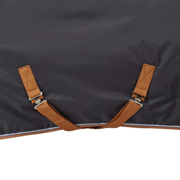 Couverture écurie équitation cheval et poney INDOOR 200 gris foncé - 1165516