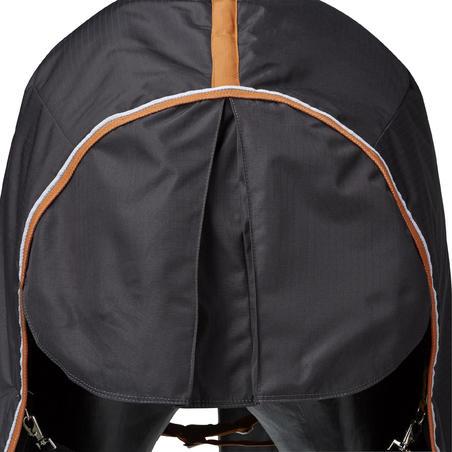 Indoor 200 Horseback Riding Stable Blanket for Horses or Ponies - Dark Grey