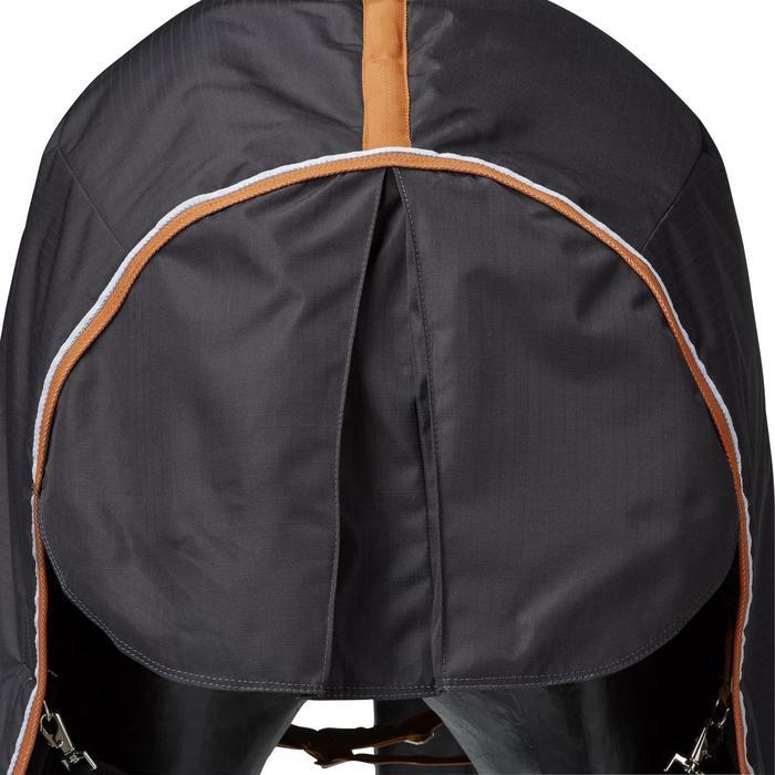 Couverture écurie équitation cheval et poney INDOOR 200 gris foncé - 1165517