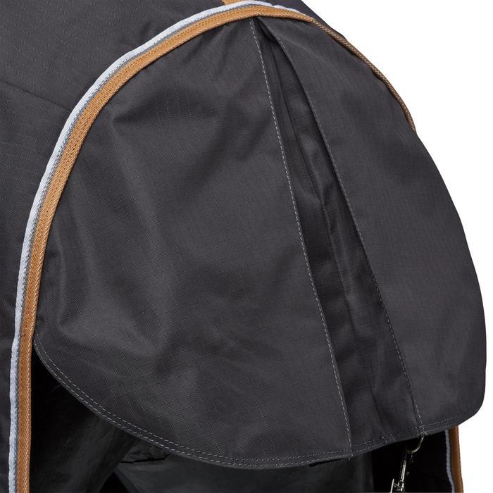 Couverture écurie équitation cheval et poney INDOOR 200 gris foncé - 1165519