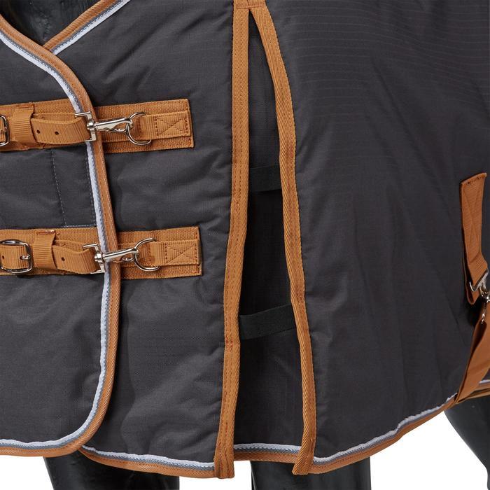 Couverture écurie équitation cheval et poney INDOOR 200 gris foncé - 1165521
