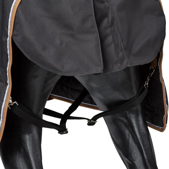 Couverture écurie équitation cheval et poney INDOOR 200 gris foncé - 1165522
