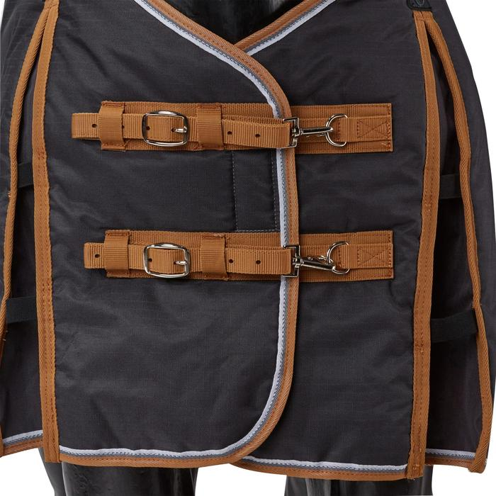 Couverture écurie équitation cheval et poney INDOOR 200 gris foncé - 1165526