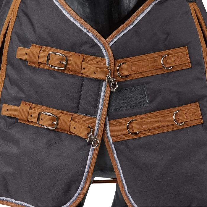 Couverture écurie équitation cheval et poney INDOOR 200 gris foncé - 1165528