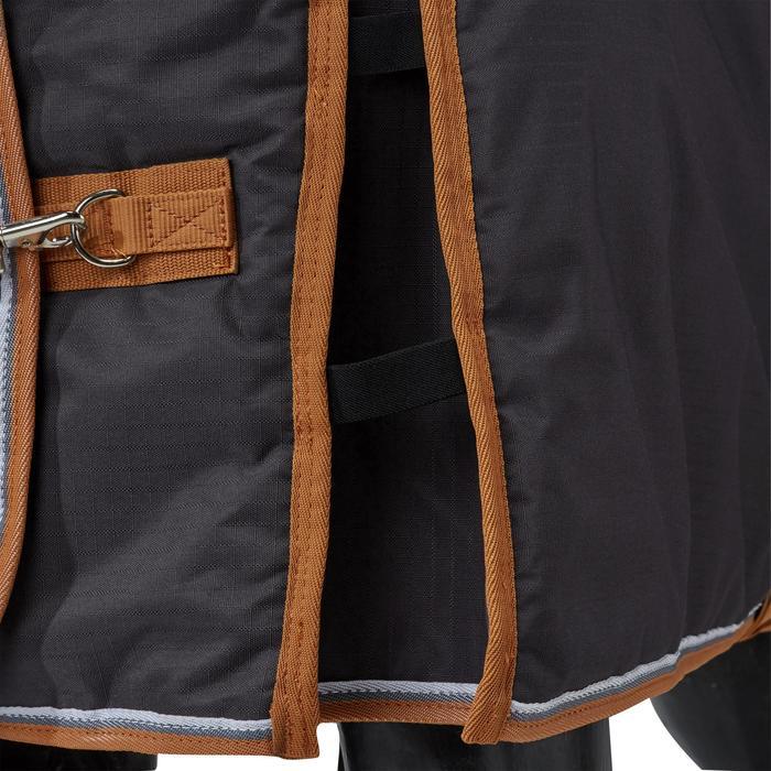 Couverture écurie équitation cheval et poney INDOOR 200 gris foncé - 1165530