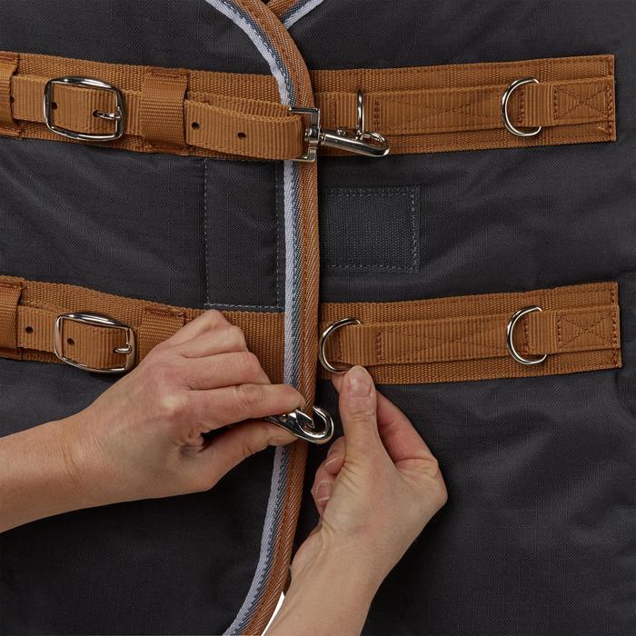 Couverture écurie équitation cheval et poney INDOOR 200 gris foncé - 1165531
