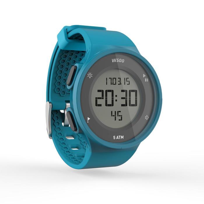 Montre chronomètre de course à pied homme W500 M noire reverse - 1165598
