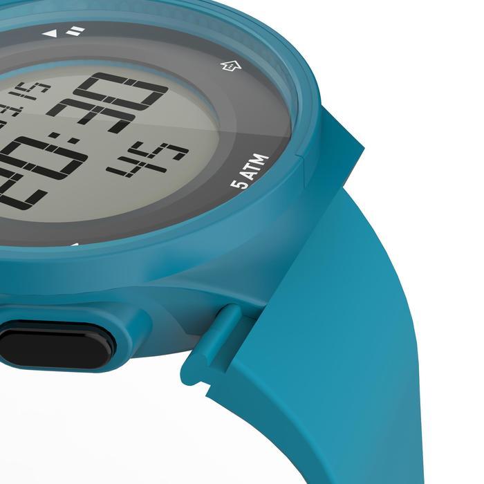 Montre chronomètre de course à pied homme W500 M noire reverse - 1165599