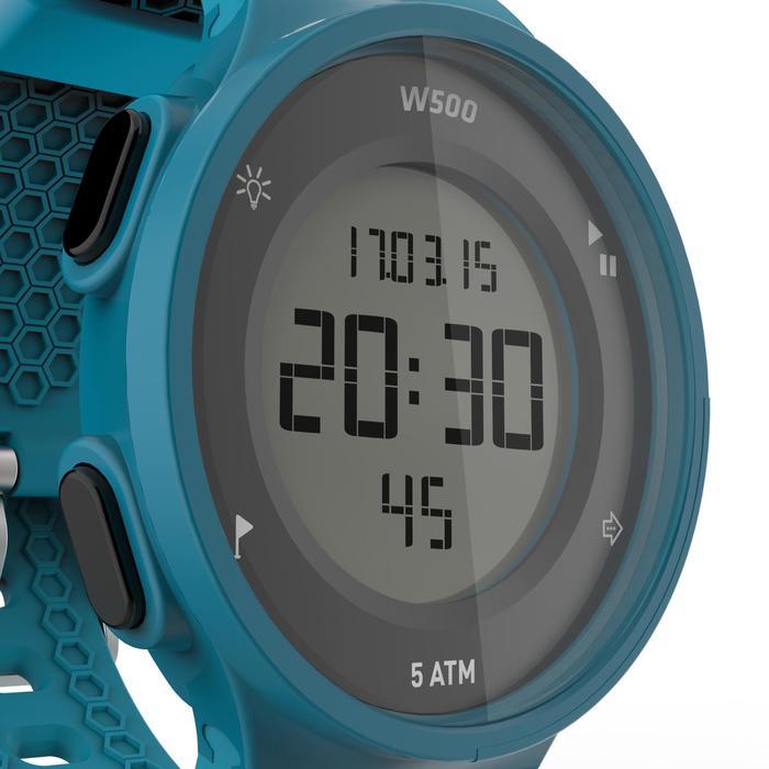 Montre chronomètre de course à pied homme W500 M noire reverse - 1165602