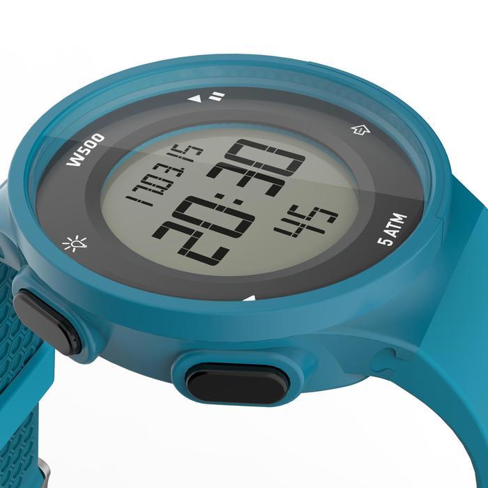 Montre chronomètre de course à pied homme W500 M noire reverse - 1165603