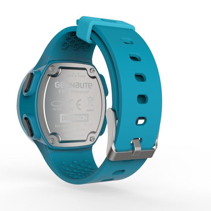 Montre chronomètre de course à pied homme W500 M noire reverse - 1165604