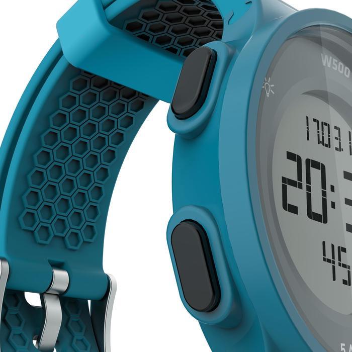 Montre chronomètre de course à pied homme W500 M noire reverse - 1165605