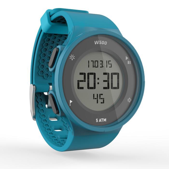 Montre chronomètre de course à pied homme W500 M noire reverse - 1165606