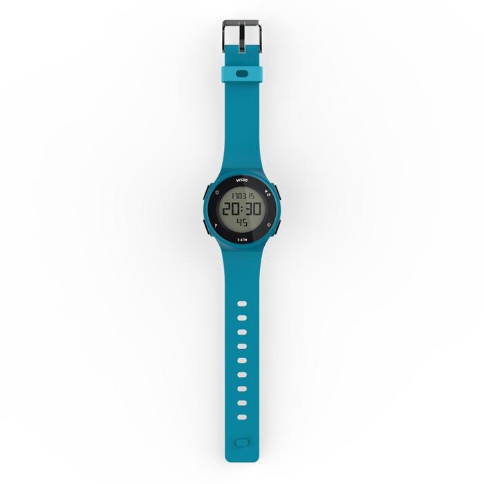 Montre chronomètre de course à pied homme W500 M noire reverse - 1165607