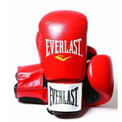 Bokshandschoenen leer Fighter expert rood