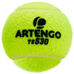 BALLES DE TENNIS COMPETITION TB 530 *4 BIPACK JAUNE