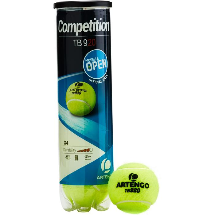 Tennisbälle Competition TB 920 Bipack 4er-Dose gelb